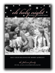 Image of Oh Holy Night Photo Card